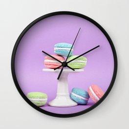 Macaron Sweet Treats Wall Clock