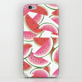 sweet watermelon pattern in pink and red colors iPhone Skin
