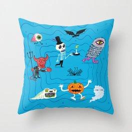 The Halloween Parade Throw Pillow