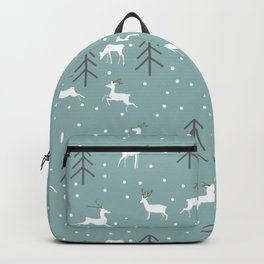 Deer in a Christmas Forest Backpack
