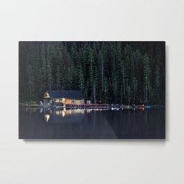 Night at Lake Louise Metal Print