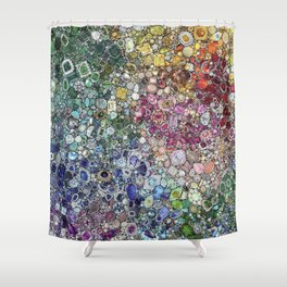 Diamonds, Jewels, (Gems & The Hologram) Shower Curtain