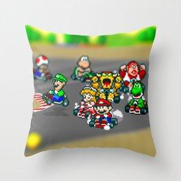 Mario Circuit Throw Pillow
