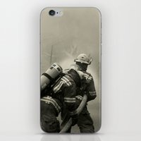 foo fighters iPhone & iPod Skins featuring Fire Fighters by Jacqueline Clark
