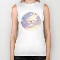 breathe Biker Tanks featuring Breathe by Rachel Burbee