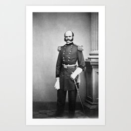 General Ambrose Burnside Standing Portrait - 1861 Art Print