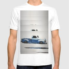 My First Truck MEDIUM Mens Fitted Tee White