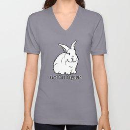 Rabbit, Rabbit, Rabbit Unisex V-Neck