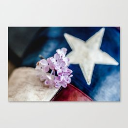 Lilac & The Lone Star Canvas Print