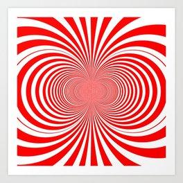 Candy Stripe Fractal Art Print