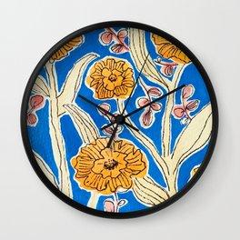 Marigold Floral Wall Clock