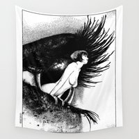 valentina Wall Tapestries featuring asc 602 - La spectatrice (Valentina at the gallery) by From Apollonia with Love