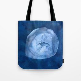Blue Mosquito in Amber Tote Bag
