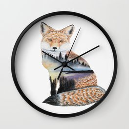 Spirit of the Fox Wall Clock