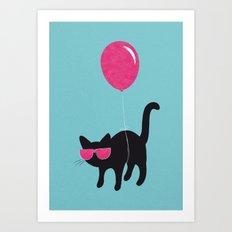 Cool Cat travels like this Art Print