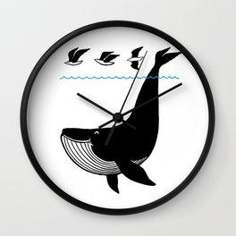 Oh Whale, I'm like a bird. Wall Clock