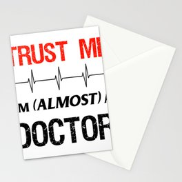 Medical School Student Gift Doctor Funny Trust Me Quote Premium design Stationery Cards