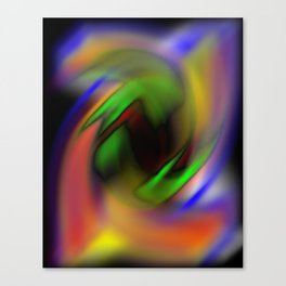 Curves of Color Canvas Print