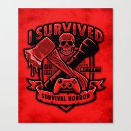 I Survived Survival Horror Canvas Print