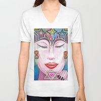 gift card V-neck T-shirts featuring Gift by LuxMundi