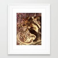 diablo Framed Art Prints featuring Diablo by daniel_b_demented