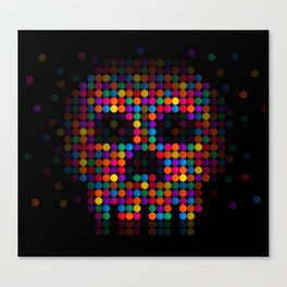 A Colorful Death by Qixel Canvas Print