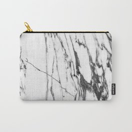 Classic White Marble #1 #decor #art #society6 Carry-All Pouch