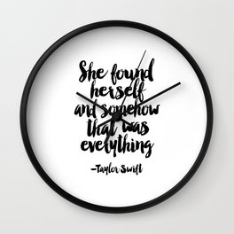 Quote,Swift Quote,Typography Print,Pardon My French,Inspirational Quote,Wall Art,Girls Room Wall Clock