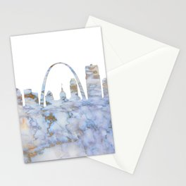 Saint Louis Missouri Skyline Stationery Cards