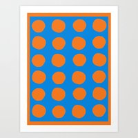 polka Art Prints featuring Polka  by Ruth Shaffer Art and Designs