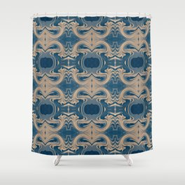 Shades of Blue Abstract Shower Curtain