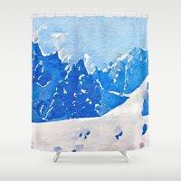 alaska Shower Curtains featuring Alaska by Acacia Alaska