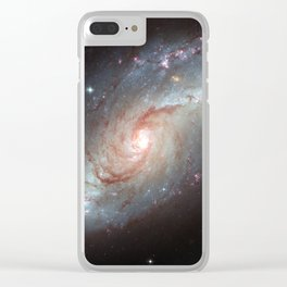 Barred spiral galaxy Clear iPhone Case