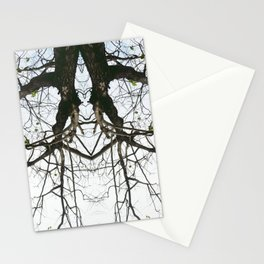 Mirrored Trees 4 Stationery Cards
