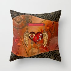 Wondeful heart with wings Throw Pillow