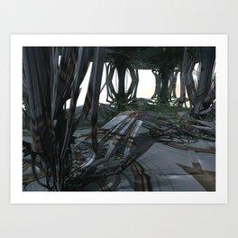 Rattan Theater (3D Fractal Digital Art) Art Print