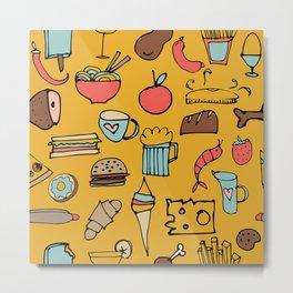 Food Frenzy yellow Metal Print