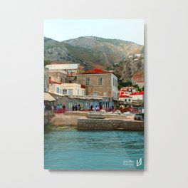 The Land of the Living Metal Print