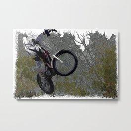Off-roading - Motocross Racing Metal Print