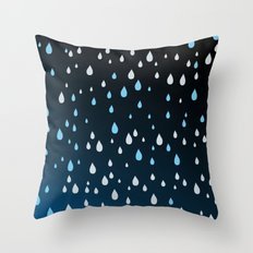 Rain Rain Rain Throw Pillow