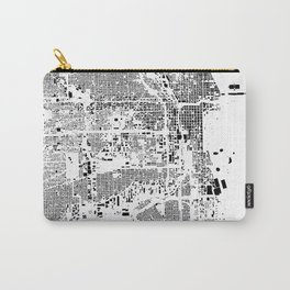 Chicago Map Schwarzplan Only Buildings Carry-All Pouch