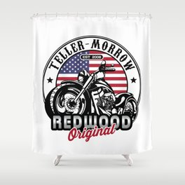 Teller-Morrow Motorcycles Shower Curtain