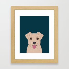 Blair - Norfolk Terrier gifts for dog lovers and pet owner gift ideas. Dog people gifts Framed Art Print