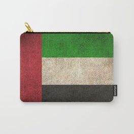 Old and Worn Distressed Vintage Flag of United Arab Emirates Carry-All Pouch