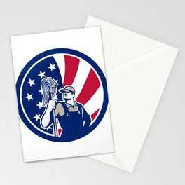American Industrial Cleaner USA Flag Icon Stationery Cards