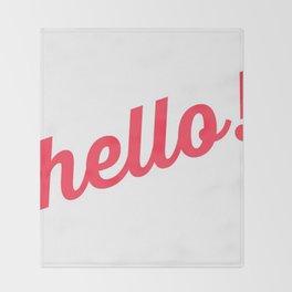 Pastel Pretty Word Art / HOLLA! / Urban Slang Throw Blanket