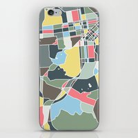 san francisco map iPhone & iPod Skins featuring San Francisco. by Studio Tesouro