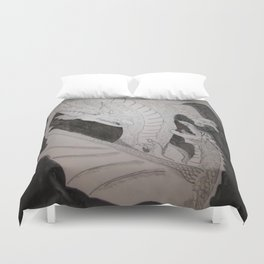 Storm Kings (Dragon thunder and lightning) Duvet Cover