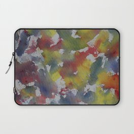 Red Blue Yellow Watercolor Laptop Sleeve