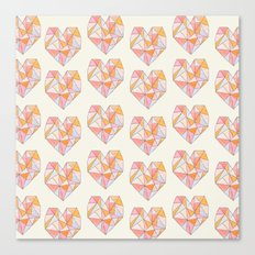 Pour Toujours pattern Canvas Print